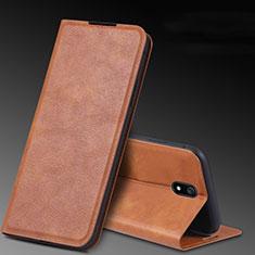 Coque Portefeuille Livre Cuir Etui Clapet L03 pour Xiaomi Redmi 8A Marron