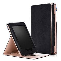 Coque Portefeuille Livre Cuir Etui Clapet L04 pour Amazon Kindle Paperwhite 6 inch Noir