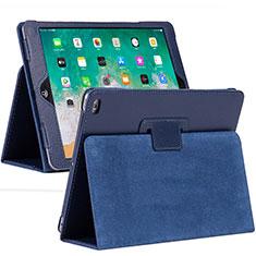 Coque Portefeuille Livre Cuir Etui Clapet L04 pour Apple iPad 10.2 (2020) Bleu