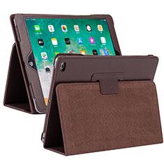 Coque Portefeuille Livre Cuir Etui Clapet L04 pour Apple iPad 10.2 (2020) Marron