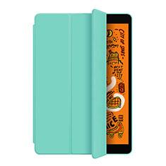 Coque Portefeuille Livre Cuir Etui Clapet L04 pour Apple iPad Mini 5 (2019) Cyan