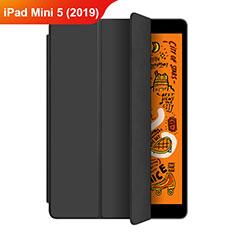 Coque Portefeuille Livre Cuir Etui Clapet L04 pour Apple iPad Mini 5 (2019) Noir