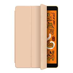 Coque Portefeuille Livre Cuir Etui Clapet L04 pour Apple iPad Mini 5 (2019) Or