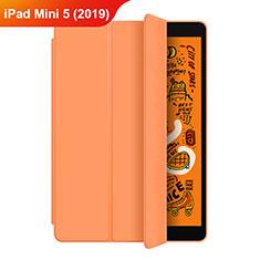 Coque Portefeuille Livre Cuir Etui Clapet L04 pour Apple iPad Mini 5 (2019) Orange