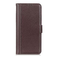 Coque Portefeuille Livre Cuir Etui Clapet L04 pour Apple iPhone 12 Max Marron