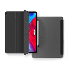 Coque Portefeuille Livre Cuir Etui Clapet L04 pour Apple New iPad Air 10.9 (2020) Noir