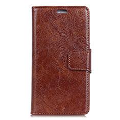 Coque Portefeuille Livre Cuir Etui Clapet L04 pour Asus Zenfone Max Plus M1 ZB570TL Marron