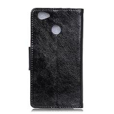 Coque Portefeuille Livre Cuir Etui Clapet L04 pour Google Pixel 3a XL Noir