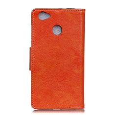 Coque Portefeuille Livre Cuir Etui Clapet L04 pour Google Pixel 3a XL Orange