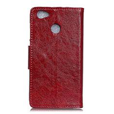 Coque Portefeuille Livre Cuir Etui Clapet L04 pour Google Pixel 3a XL Rouge