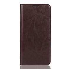 Coque Portefeuille Livre Cuir Etui Clapet L04 pour Huawei Enjoy 9 Marron