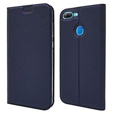 Coque Portefeuille Livre Cuir Etui Clapet L04 pour Huawei Honor 9 Lite Bleu