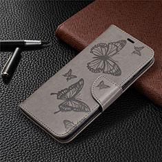 Coque Portefeuille Livre Cuir Etui Clapet L04 pour Huawei Honor 9A Gris