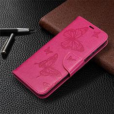Coque Portefeuille Livre Cuir Etui Clapet L04 pour Huawei Honor 9A Rose Rouge