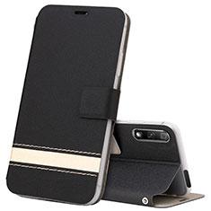 Coque Portefeuille Livre Cuir Etui Clapet L04 pour Huawei Honor 9X Noir