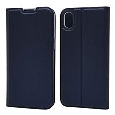 Coque Portefeuille Livre Cuir Etui Clapet L04 pour Huawei Honor Play 8 Bleu