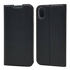 Coque Portefeuille Livre Cuir Etui Clapet L04 pour Huawei Honor Play 8 Noir