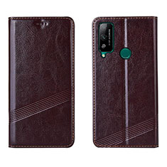 Coque Portefeuille Livre Cuir Etui Clapet L04 pour Huawei Honor Play4T Marron