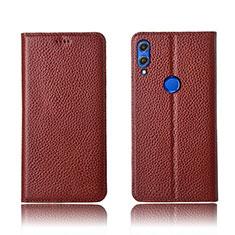 Coque Portefeuille Livre Cuir Etui Clapet L04 pour Huawei Honor V10 Lite Marron