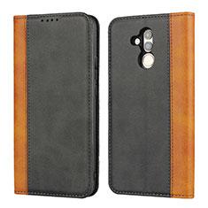 Coque Portefeuille Livre Cuir Etui Clapet L04 pour Huawei Mate 20 Lite Noir