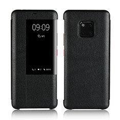 Coque Portefeuille Livre Cuir Etui Clapet L04 pour Huawei Mate 20 Pro Noir