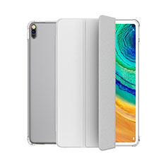 Coque Portefeuille Livre Cuir Etui Clapet L04 pour Huawei MatePad 10.4 Blanc