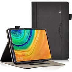 Coque Portefeuille Livre Cuir Etui Clapet L04 pour Huawei MatePad Pro Noir