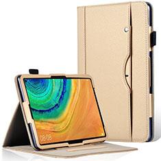 Coque Portefeuille Livre Cuir Etui Clapet L04 pour Huawei MatePad Pro Or