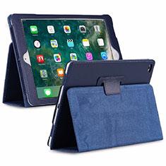 Coque Portefeuille Livre Cuir Etui Clapet L04 pour Huawei MediaPad M6 8.4 Bleu
