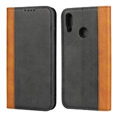 Coque Portefeuille Livre Cuir Etui Clapet L04 pour Huawei P Smart (2019) Noir