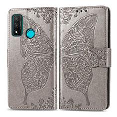 Coque Portefeuille Livre Cuir Etui Clapet L04 pour Huawei P Smart (2020) Gris