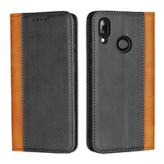 Coque Portefeuille Livre Cuir Etui Clapet L04 pour Huawei P20 Lite Noir