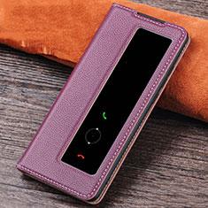 Coque Portefeuille Livre Cuir Etui Clapet L04 pour Huawei P30 Violet