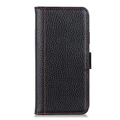 Coque Portefeuille Livre Cuir Etui Clapet L04 pour Huawei Y6p Noir