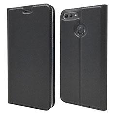 Coque Portefeuille Livre Cuir Etui Clapet L04 pour Huawei Y9 (2018) Noir