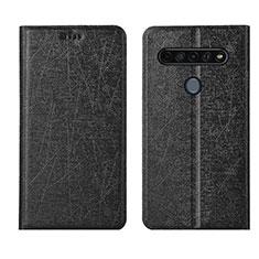 Coque Portefeuille Livre Cuir Etui Clapet L04 pour LG K61 Noir