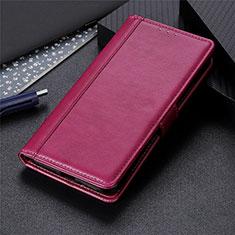 Coque Portefeuille Livre Cuir Etui Clapet L04 pour LG K92 5G Vin Rouge
