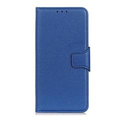 Coque Portefeuille Livre Cuir Etui Clapet L04 pour LG Velvet 4G Bleu
