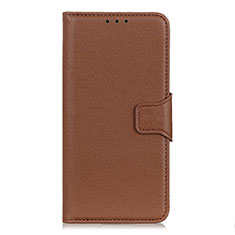 Coque Portefeuille Livre Cuir Etui Clapet L04 pour LG Velvet 4G Marron
