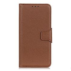 Coque Portefeuille Livre Cuir Etui Clapet L04 pour LG Velvet 5G Marron