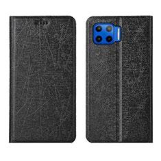 Coque Portefeuille Livre Cuir Etui Clapet L04 pour Motorola Moto G 5G Plus Noir