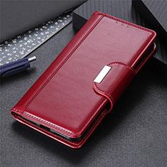 Coque Portefeuille Livre Cuir Etui Clapet L04 pour Motorola Moto G Pro Vin Rouge