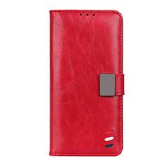 Coque Portefeuille Livre Cuir Etui Clapet L04 pour Motorola Moto G9 Plus Rouge