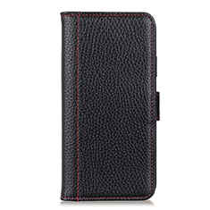 Coque Portefeuille Livre Cuir Etui Clapet L04 pour Motorola Moto One Fusion Noir