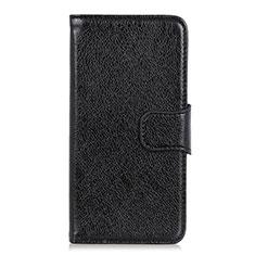 Coque Portefeuille Livre Cuir Etui Clapet L04 pour Motorola Moto One Fusion Plus Noir