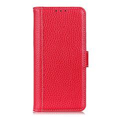 Coque Portefeuille Livre Cuir Etui Clapet L04 pour Motorola Moto One Fusion Rouge