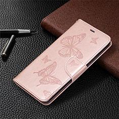Coque Portefeuille Livre Cuir Etui Clapet L04 pour Nokia 5.3 Or Rose