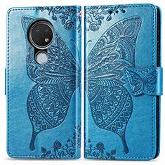 Coque Portefeuille Livre Cuir Etui Clapet L04 pour Nokia 6.2 Bleu