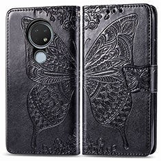 Coque Portefeuille Livre Cuir Etui Clapet L04 pour Nokia 6.2 Noir