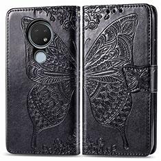 Coque Portefeuille Livre Cuir Etui Clapet L04 pour Nokia 7.2 Noir